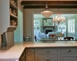 wood countertops painted gray kitchen cabinets lighting flooring