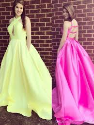 light yellow prom dresses light yellow prom dresses cross criss halter simple long evening