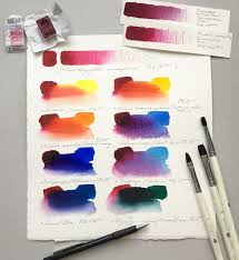 paint mixing instagram color mixing swatch sle page setup elena bazanova