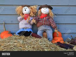 humorous thanksgiving pictures humorous thanksgiving picture two scarecrow dolls guarding