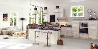 cuisines ouvertes sur salon cuisine ouverte salon verriere industrielle constructions du image
