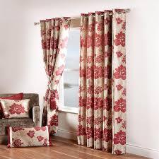 Jacquard Curtain Red Jacquard Curtains Paoletti Berkshire Fl Chenille Jacquard