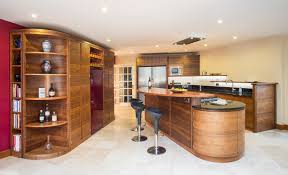 interior awesome kitchen design ideas with oval oak wood kitchen