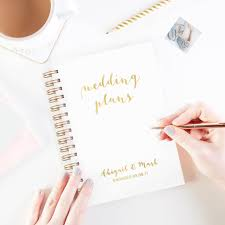 wedding plans wedding plans personalised notebook engagement gift by