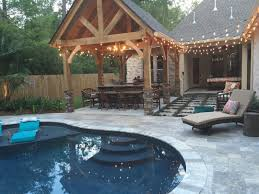 mandeville lounge pool and pool house crystal pools and spas