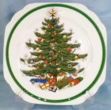 christmas plates 7 vintage christmas tree luncheon plates plummer ltd new york as