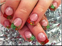 acrylic christmas nail art design easy way nail art with you in