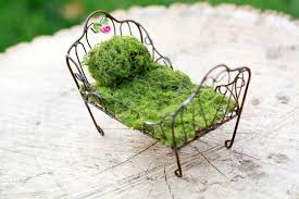 fairy bed fairy garden furniture day bed miniature accessories