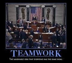 Teamwork Memes - there is no team in politics very demotivational demotivational