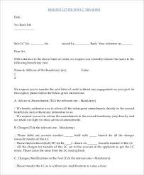 Transfer Request Letter In Bank request letter sles