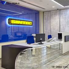 Restaurant Reception Desk Exclusive Glass Office Furniture Desks Front Desk Practical