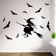 popular wall decal bat buy cheap wall decal bat lots from china paper art removable decals santa furniture decorative stickers halloween black witch bat wall sticker kids rooms