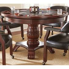 Poker Dining Table by Night Hawk Round Poker Table W Square Dining Top Helmsley Poker