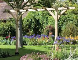 the single pergola garden arch from the natural gardener