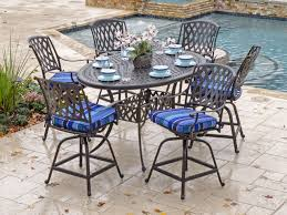 Chair King Outdoor Furniture - tivoli cast aluminum 7 pc counter height set chair king