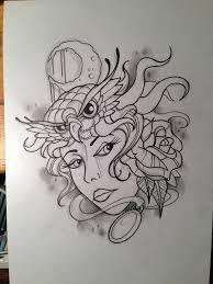 zombie gypsy tattoo design