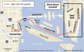 Miami Beach Bus Map From French Firm A Bid To Jump Start Bay Link Miami Herald