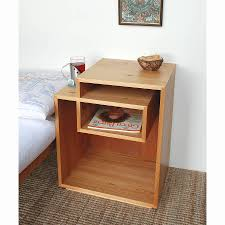 simple bedside table furniture lacquered open shelf designing