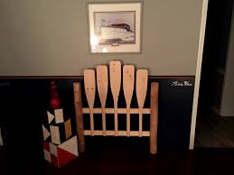 themed headboards accessories winsome nautical unfinished paddle headboard