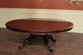Large Round Solid Walnut Dining Table With Hidden Leaves 64 To 84 Bold Inspiration 84 Round Dining Table All Dining Room