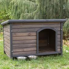 Ideas & Tips Sophisticated Log Cabin Mahogany Wood Base Cool Dog