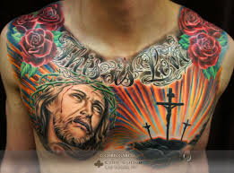 jesus on chest jesus
