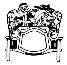 classic cars clip art vintage christmas clip art santa in automobile the graphics fairy