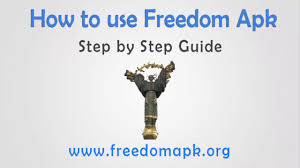 freedem apk how to use freedom apk hd tutorial freedom apk