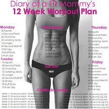 easy workout plans at home diary of a fit mommy s 12 week workout plan pictures photos and