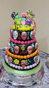 day of the dead wedding cake mexican day of the dead wedding cake celticcakes