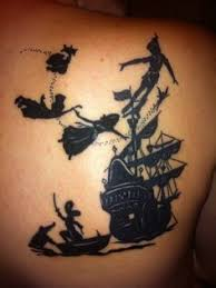 this is my peter pan tattoo that i got for my 21st birthday it