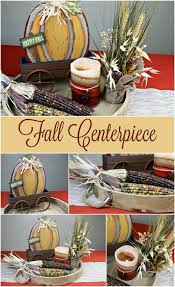 fall table centerpiece from at home mommadjane