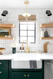 cool green subway tile kitchen and kitchen subway tile design