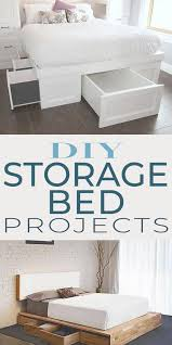 ikea kitchen cabinet storage bed diy storage bed projects the budget decorator