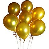 Amazoncom Fecedy 100pcspack 12 Gold Shiny Balloons for Party
