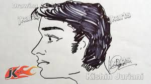 diy human side profile male face how to draw jk arts 189