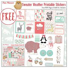 sweater weather foxes planner kit u0026 free planner stickers