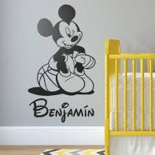 deco mickey chambre stickers mickey avec prenom decoration chambre garçon