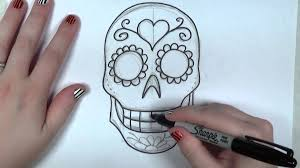 learn how to draw and color a sugar skull part 1 icanhazdraw