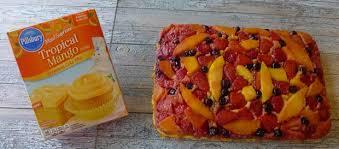 triple berry mango upside down cake recipe akron ohio moms