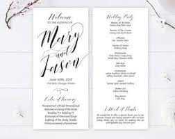 Cheap Wedding Programs Cheap Calligraphy Etsy