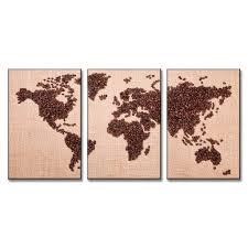 aliexpress com buy selling 3 panels coffee bean world map