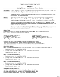 functional resume template word functional resume sle free copy functional resume template word