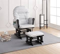 Black Rocking Chair For Nursery Home Brisbane Glider Ottoman Set With Cushion
