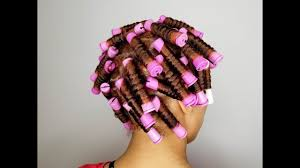 perm left to dry naturally on medium to long hair how to medium perm rod set wet natural hair youtube