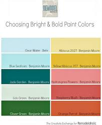 remodelaholic decorating with bold colors