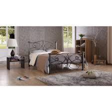Silver Queen Bed Hodedah Black And Silver Queen Platform Bed Hi824 Q Black Silver