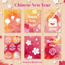 lunar new year cards watercolor new year cards vector free