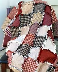 rag quilt made with strips easy diy and craft ideas