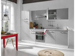 greta cuisine bloc cuisine 280 cm greta 1 blanc gris vente de les cuisines
